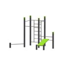Wall – 3 Pull Up Bars – Bench – Push Up StreetWorkout