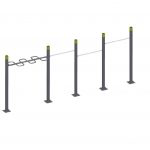 Pull Up Bars Triple – Wavebar StreetWorkout