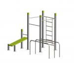Wall 3 pull up bars bench parallel bars 3 StreetWorkout