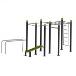 Wall Monkey bars 5 pull up bars Bench Parallel Bars StreetWorkout