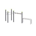 WaveBar – 4 Pull Up Bars Square – Parallel Bars StreetWorkout