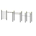 Wall – Wave – Monkey Bars – 4 Pull Up Bars  StreetWorkout