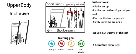 Professional SportPoint on floor. UpperBody Inclusive
